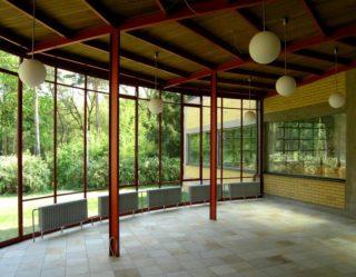 Wintergarten der ADGB-Schule in Bernau bei Berlin. Foto: BLDAM
